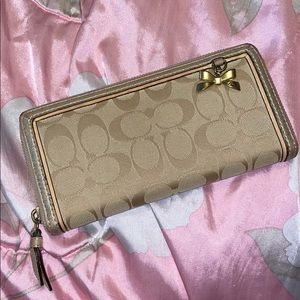Coach Wallet with Bow